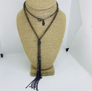 Loft outlet lint cristal beads tassel necklace